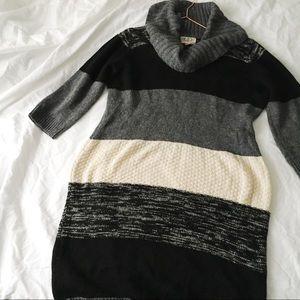 Cowl Sweater Dress
